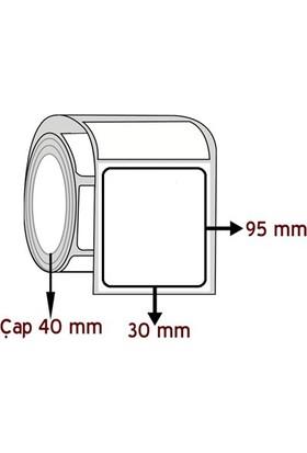 Barkodsarf Silver Mat 95 mm x 30 mm Barkod Etiketi Çap 40 mm (6 Rulo)