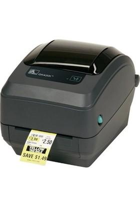 Zebra GK420T GK42-102520-000 BARKOD YAZICI TERMAL/DİREK TERMAL TRANSFER GK420T 203 DPI USB/SERİ/LPT Barkod Yazıcı