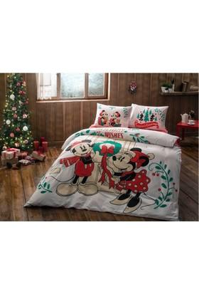 Taç Mickey And Minnie New Year Nevresim Çift Kişilik
