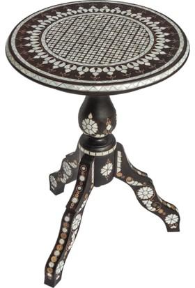 Gümüştekin Sedef Kakma Fiskos Sehpa