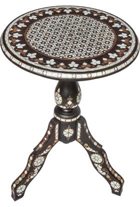 Gümüştekin Masif Ceviz İşlemeli Fiskos Sehpa