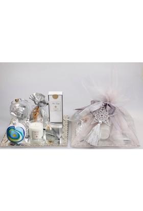Miss Gaya Hediyelik Set Supla Gümüş Renk-Aynalı-Kare