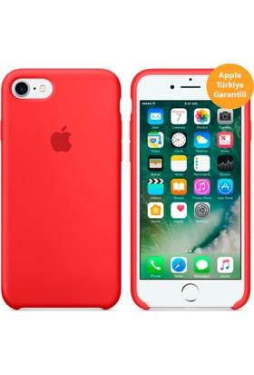 Apple iPhone 8 - iPhone 7 Silikon Kılıf - Kırmızı - MMWN2ZM/A (Apple Türkiye Garantili)