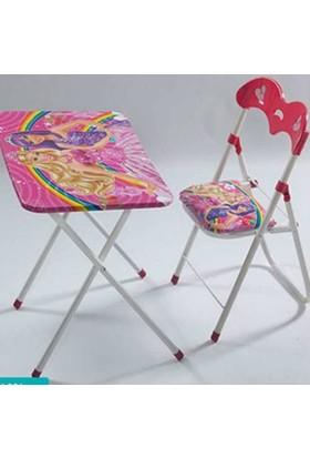Weblonya Çocuk Oyun Masası + Sandalye Katlanır Masa
