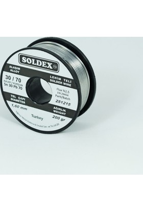 Soldex 1.6 Mm 500 Gr Lehim Teli Sn30 Pb70