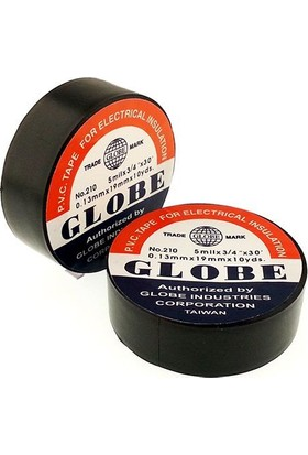 Globe İzole Elektrik Bandı 10'Lu Paket - Siyah