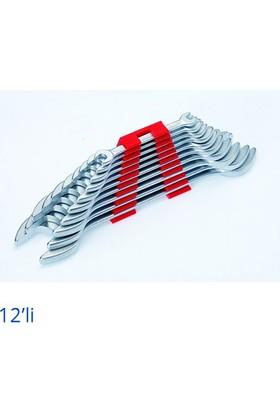 İzeltaş Çatal İki Ağız Anahtar Takımı Kısa Boy 12'Li
