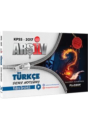 Filozof Yayıncılık Kpss 2017 Arşiv Türkçe Video Ders Notları Filozof Yayıncılık