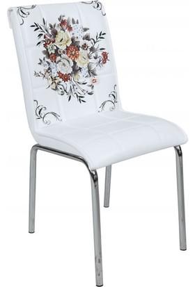Osmanlı Mobilya 4 Adet Pedli Sandalye Çiçek Demeti