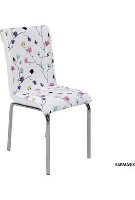 Osmanlı Mobilya 4 Adet Pedli Sandalye Sarmaşık