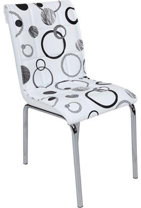 Osmanlı Mobilya 4 Adet Pedli Sandalye Yoğun Halka