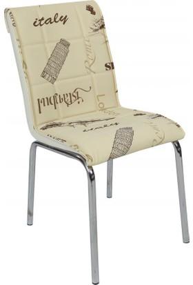 Osmanlı Mobilya 6 Adet Pedli Sandalye Krem Paris