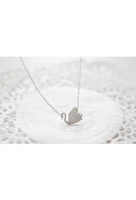 Affix Silver Gümüş Özel Tasarım Eskitme Model Kuğu Kolyesi