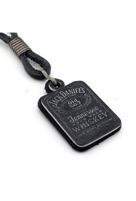 Solfera Jack Daniels Hakiki Deri Erkek Kolye K680