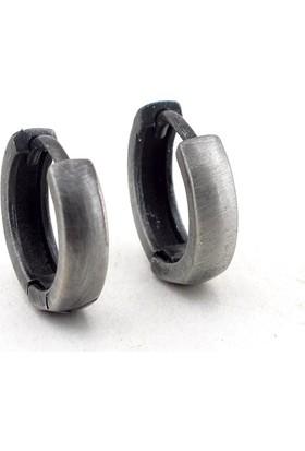 Solfera Tasarım Antrasit Halka Çelik Erkek Küpe E405
