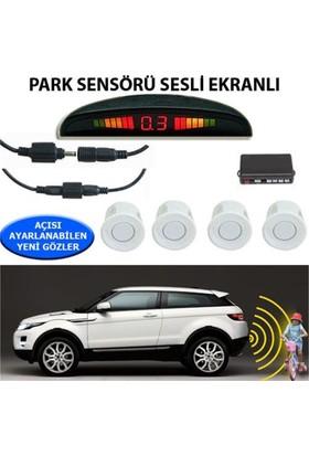 Nettedarikcisi Park Sensörü Ekranlı Ses İkazlı Beyaz Sensör