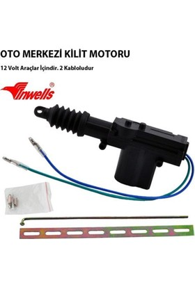 Nettedarikcisi İnwells Merkezi Kilit Motoru Tek Motor 2 Kablo 12 Volt ( Arka - Bagaj )