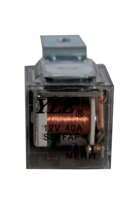 Merit Röle 12V 5'li Şeffaf Mini Işıklı