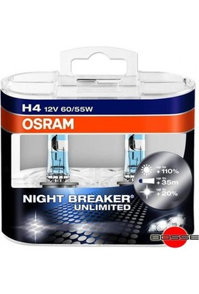Osram H4 Night Breaker Unlimited Ampul Takımı