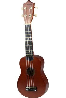 Ukulele Gonzales Kahverengi XU21-BR Soprano Ukulele