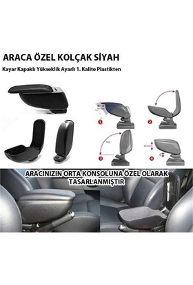 Nettedarikcisi Opel Astra H Kolçak Kol Dayama Siyah