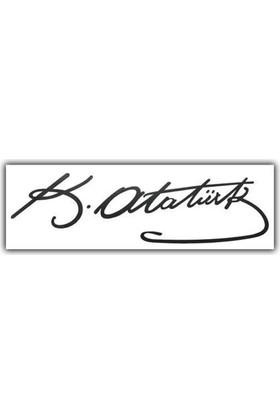 Nettedarikcisi Ozy Kemal Atatürk İmzası Araba Oto Sticker ( 5,5Cm * 20Cm )