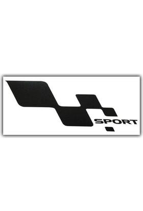 Nettedarikcisi Ozy Sport Damalı Yazı Araba Oto Sticker Büyük ( 1 Takım / Sağ-Sol) ( 14Cm * 27Cm )