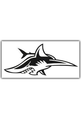 Nettedarikcisi Ozy Köpek Balığı Yazı Araba Oto Sticker 5,5Cm * 13Cm )