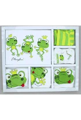 Yumurcak Kutulu 0-3 Ay 10 parça kurbağa desenli bebek hastane çıkışı