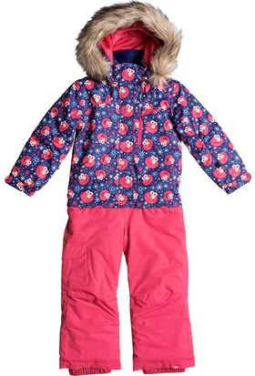 Roxy Paradise Suit Çocuk Kayak Tulumu Pembe