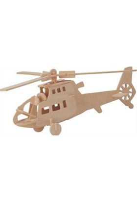 İdeal 3D Ahşap Maket Helikopter