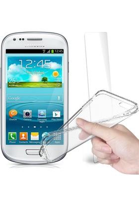 Fuqqa Samsung Galaxy S3 Mini Ekran Koruyucu + Şeffaf Silikon Kılıf