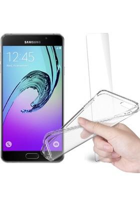 Fuqqa Samsung Galaxy A7 2016 Ekran Koruyucu Filmi + Silikon Kılıf