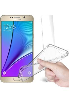 Fuqqa Samsung Galaxy Note 5 Ekran Koruyucu Filmi + Silikon Kılıf