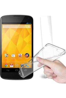 Fuqqa Lg Nexus 4 Ekran Koruyucu Filmi + Silikon Kılıf