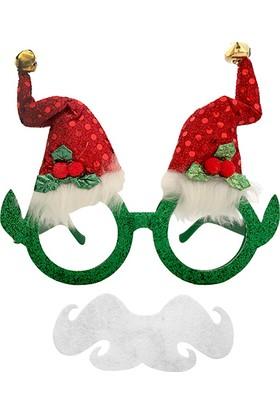 KullanAtMarket Simli Noel Baba Parti Gözlük