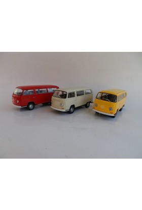Welly Volkswagen Microbus T2 - 3'lü Set