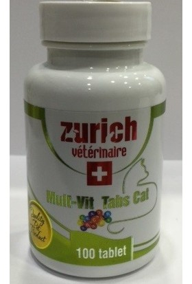 Zurich Mult-Vit Tabs Cat 100 Tablet