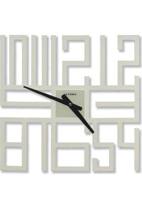 Regal Metal Duvar Saati Beyaz Renk 1154W