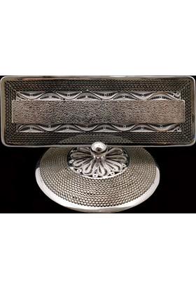Akyüz Gümüş Telkari Masaüstü Gümüş İsimlik Akse001