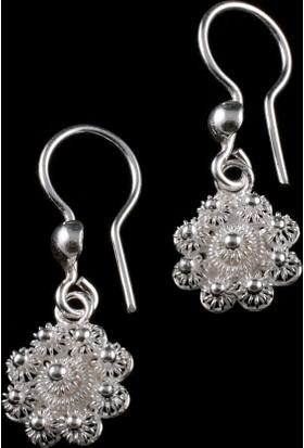Akyüz Gümüş Bereket Modeli Telkari Gümüş Küpe Kpt020