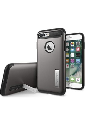 Spigen Apple iPhone 8 Plus - iPhone 7 Plus Kılıf Slim Armor Gunmetal 043CS20309
