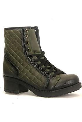 Lucio Gabbani 820 Orta Cilt Bağcıklı Fermuarlı Bayan Bot Ayakkabı