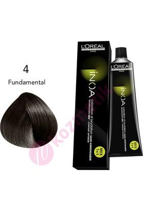 Loreal İnoa Amonyaksız Saç Boyası No: 4 Fundamental 60Ml.