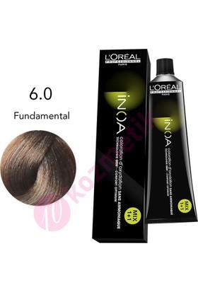 Loreal İnoa Amonyaksız Saç Boyası No: 6.0 Fundamental 60Ml.
