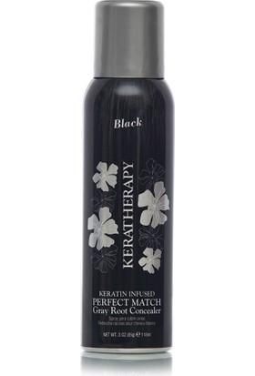 Keratherapy Perfect Match (Siyah) Keratin İçerikli Beyaz Kapatıcı Sprey 118Ml