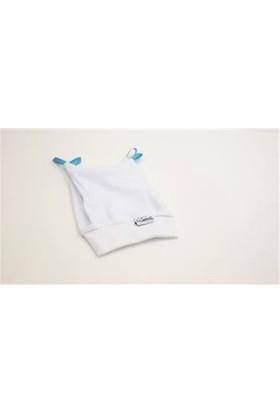 Sema Bebe Yenidoğan Kurdelalı Bebek Şapka - Beyaz