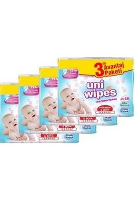 Uni Baby Wipes Islak Havlu Mendil 4X3'lü Paket