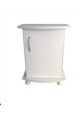 Kanki Pet Akvaryum Sehpa Beyaz 65 Cm Bombeli 65x31x67