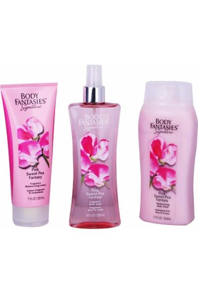 Body Fantasies Pink Sweet Pea 3'lü Hediye Seti